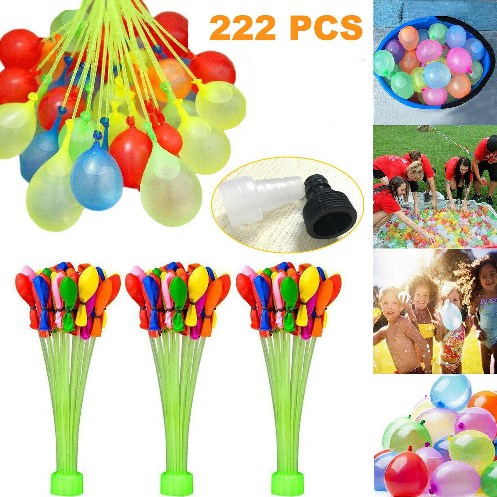 222 pcs Water Balloons Toys Water Injection Rapid Filled Summer Water Bomb for Kids Water-filled Balloons Beach Fun Party Chindren Kids Toys