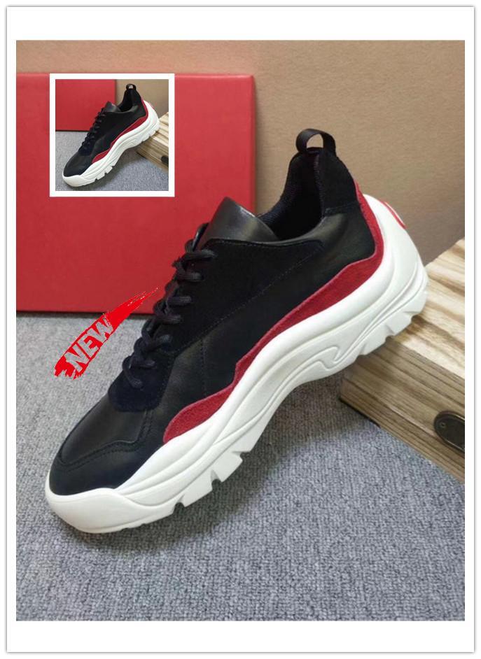 Ahick Sole Ayakkabı Casual Luxury DASAGN Gumboy Dana derisi Sneaker Deri Büyük Boy Yüksek auality Erkek Moda Ayakkabılar Scarpe da uomo Bırak Gemi A51