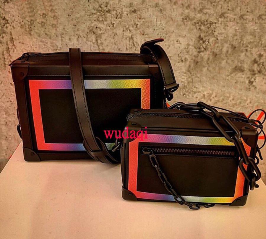 2019 новых мужчин и женщин с тем же пунктом V слово маленькая коробка крест радуга квадратная коробка сумка плечо перекинул мужскую сумку портативная сумка