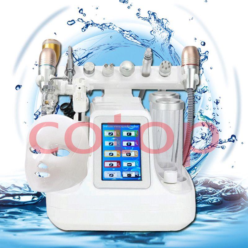 10 in 1 HIFU Hydra Dermabrasion RF Bio-lifting Spa per il viso Hydro Microdermabrasion Face Spa per il trattamento dell'acqua Dermoabrasione
