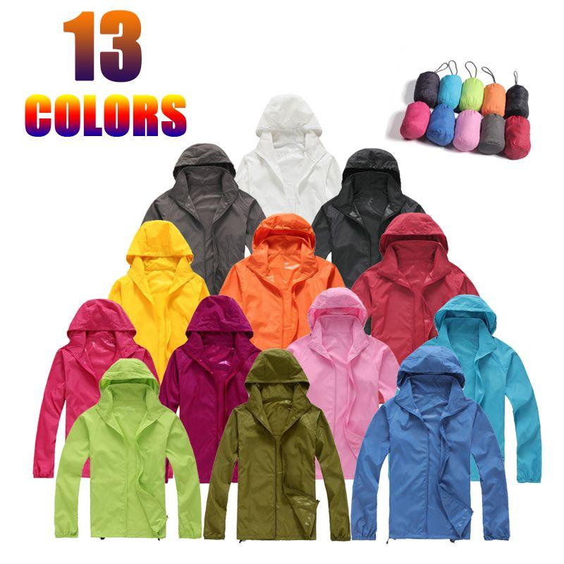 디자이너 재킷 남성 브랜드 빠른 건조 피부 코트 선 스크린 방수 UV 여성 얇은 육군 착실히 보내다 초경량 바람막이 휴대용 자켓 WY197