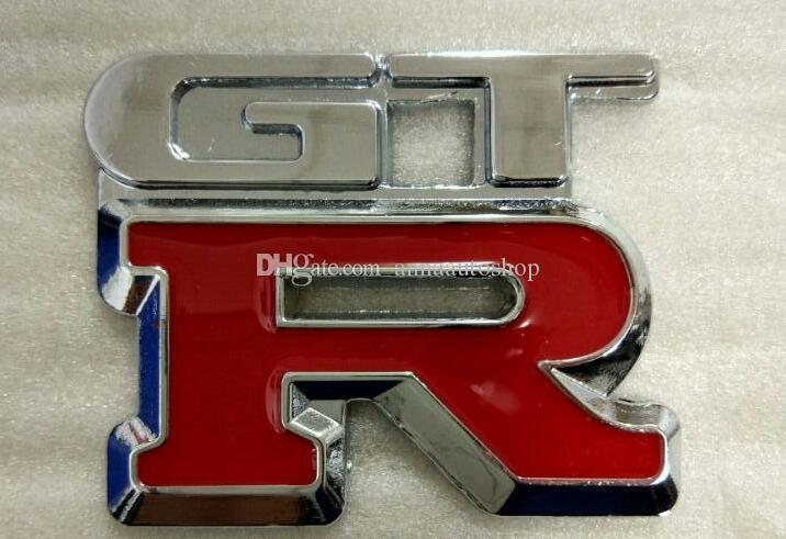 Car-styling di alta qualità auto adesivo GTR in metallo cromato 3D auto emblema distintivo adesivo auto GTR metallo styling trasporto libero insegne gtr