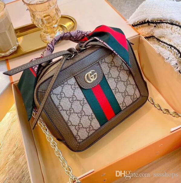 SICAK 2020 yeni kalite bayanlar omuz küçük kare torba klasik postacı çanta moda ipek eşarp çanta cüzdan boyutu: 22cm.