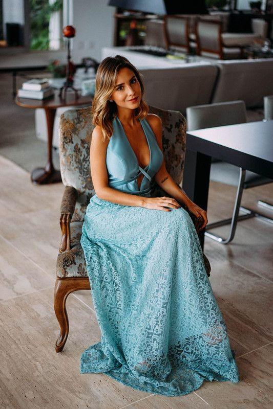 2020 Halter Décolleté Plongeant robes de bal sexy de Retour demoiselle d'honneur robe de mariée longue en dentelle étage Robes de soirée pas cher Party
