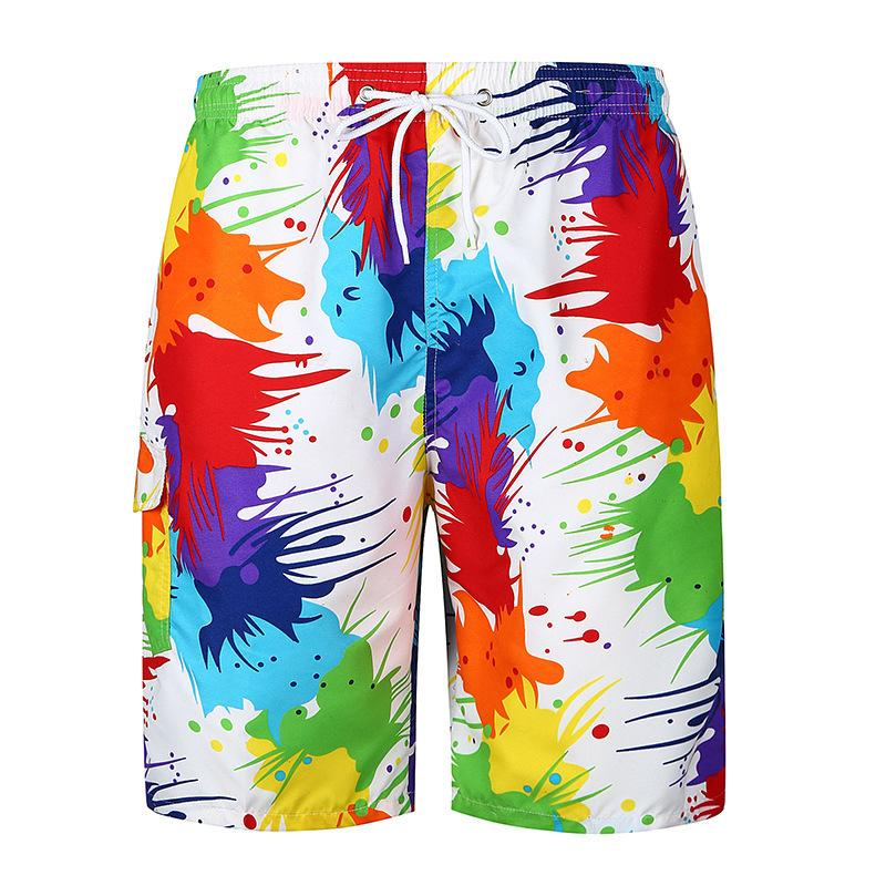 Pop2019 European Foreign Trade Pattern Flower Trend Sandy Beach Cool Time Shorts Easy Will Code Pants Dk01