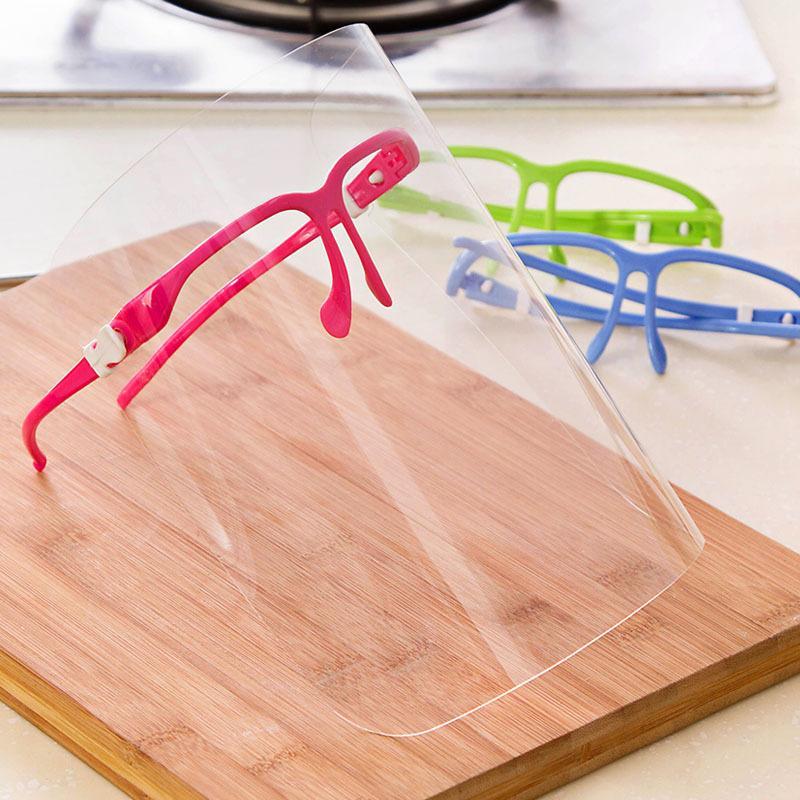 Limpar protetor facial transparente Máscara Máscaras Anti Poeira Unisex respingo Fume prova que cozinha a cozinha Multi-Function máscaras de protecção MMA3367
