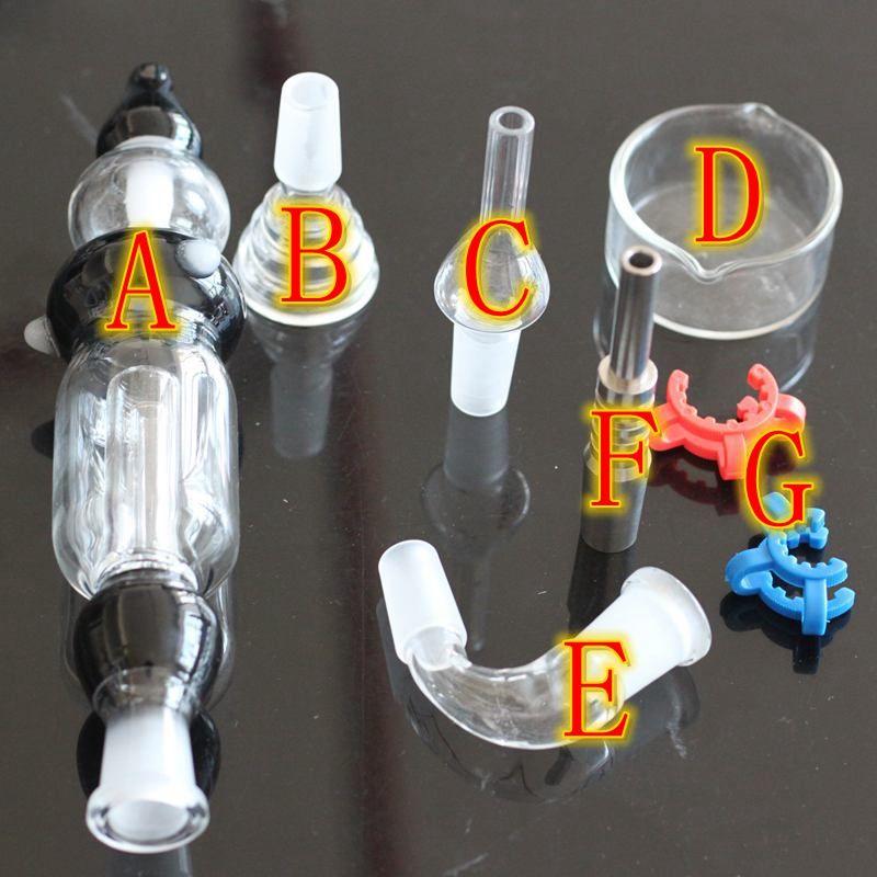 Kit collecteur de nectar pour fumer pipe à eau nectar bong pipe à eau en titane ensemble complet de produits de la pipe à eau en boîte narguilé chicha