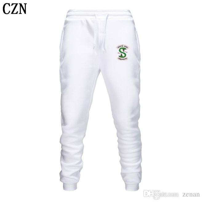 Riverdale primavera y otoño pantalones deportivos nuevos hombres y mujeres de moda los pantalones ocasionales de los hombres pantalones elástico del pantalón casual EL-2