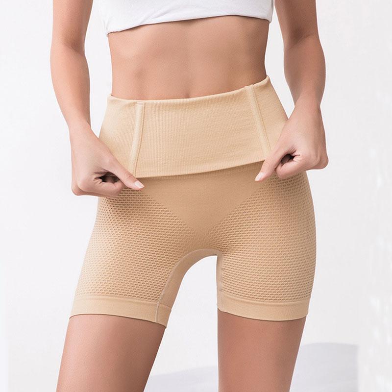 Le donne che modella i pantaloni post-partum Mutandine alta vita che modella 3D a nido d'ape traspirante Underwear Boxer