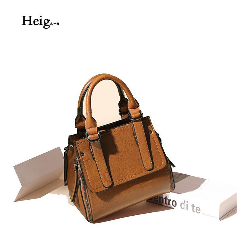 Damenhandtaschen aus Leder neue Art und Weise Handtasche der europäischen und amerikanischen High-End-Leder Einzel-Schulter-Kurier-Beutel Beutel der Frauen
