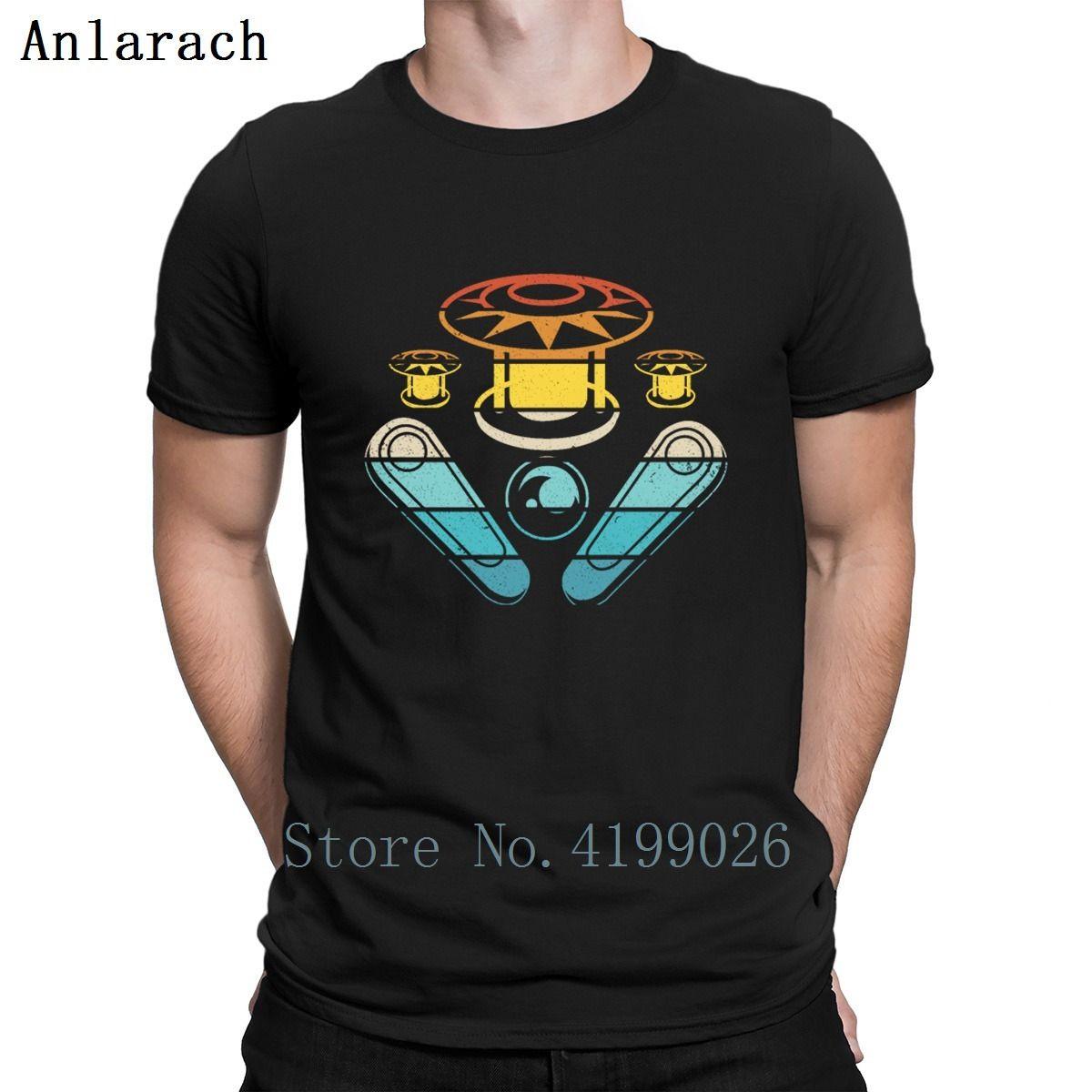 Pinball Wizard Flipper jeu d'arcade rétro T-shirt de conception S-5XL célèbre Printemps Automne nouveau style T-shirt officiel Photos Chemise