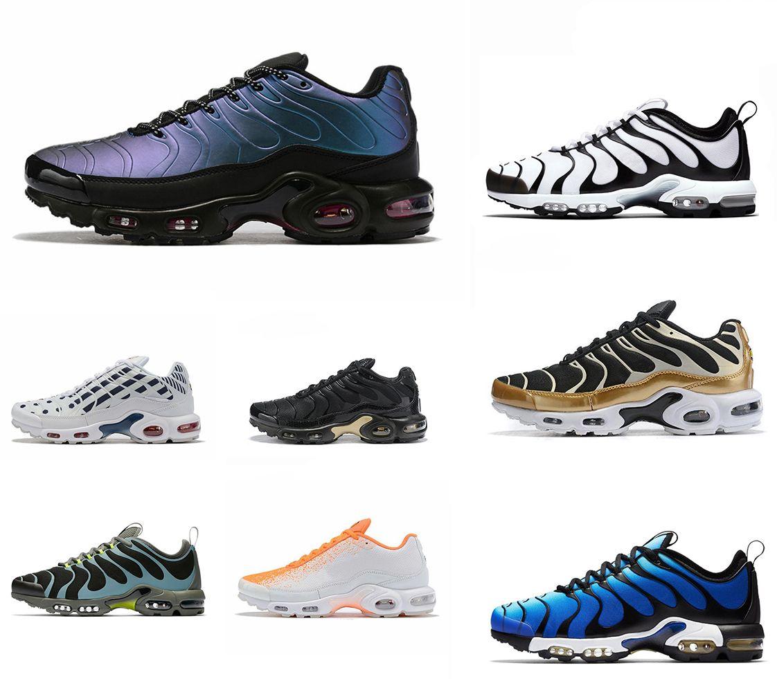 TN Plus SE Running Shoes For Mens Trainer Triple Black Volt Spray Paint Bright Cactus Hyper Blue Men Sports Sneaker Outdoor Runner Size40-45