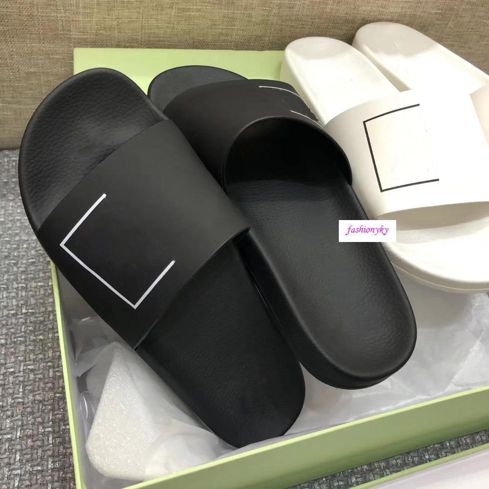 Moda Off per il tempo libero sulla spiaggia coperta pantofole di stampa bianco paio di pantofole