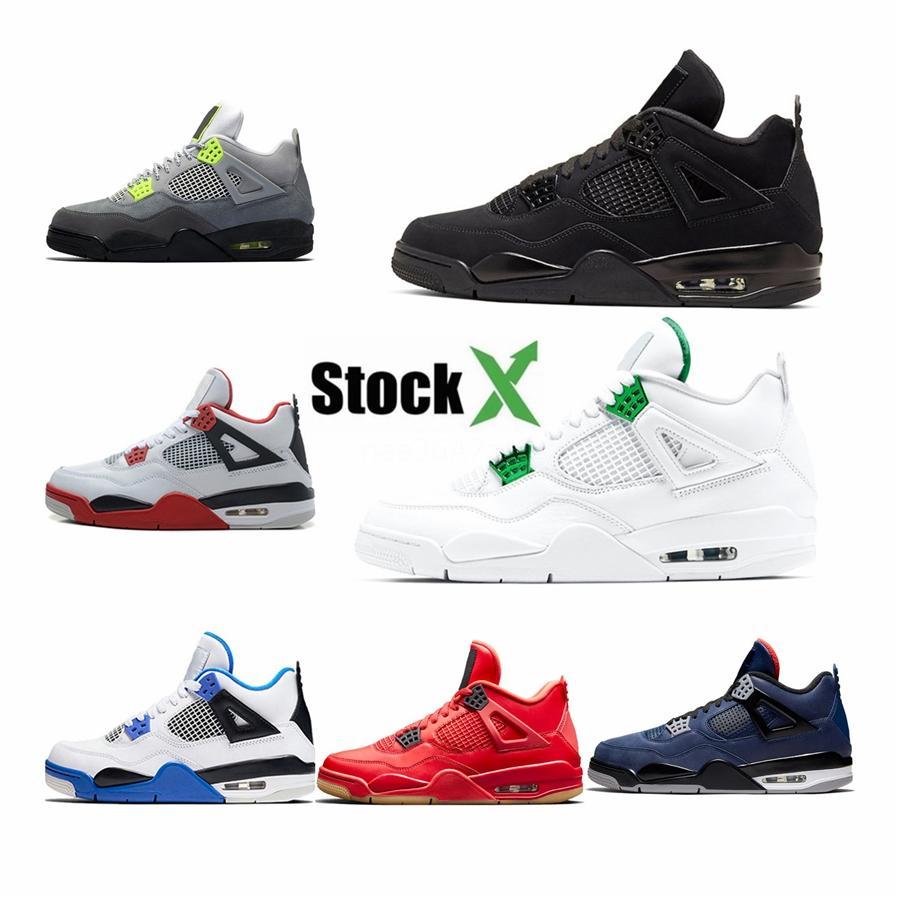 2020 4 4S razza pura denaro Denim Loyal Blu Che il fresco di pallacanestro degli uomini Scarpe Og Fiba Unc Royalty Oreo Sport Sneakers # 713