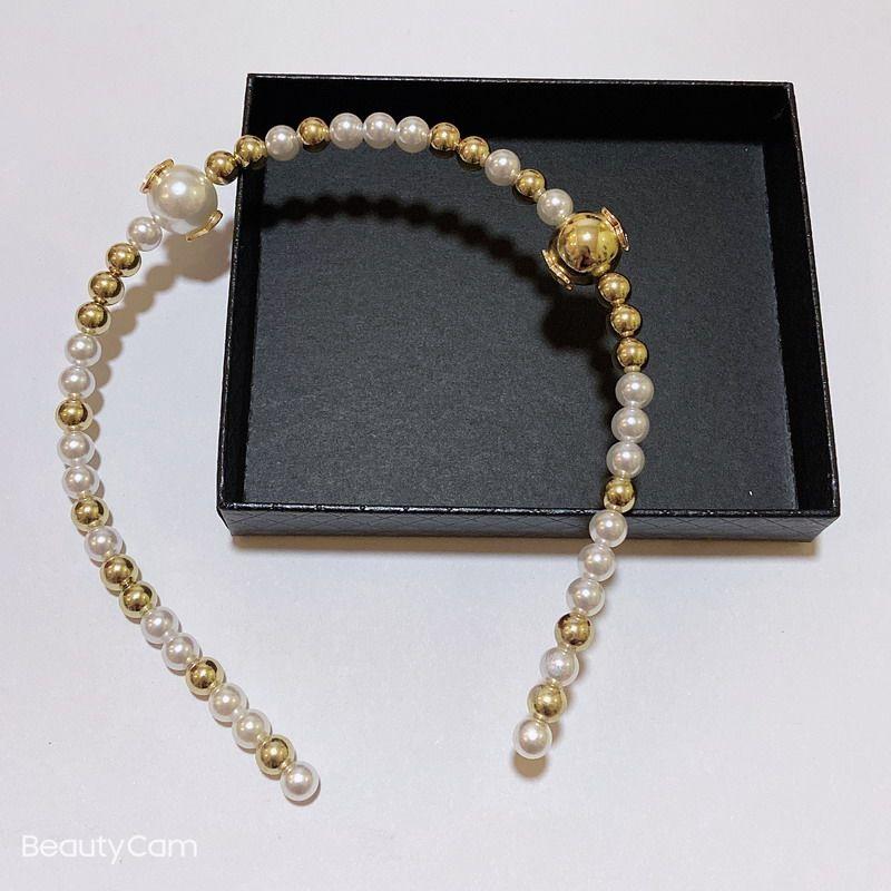 좋은 아이템 패션 클래식 손으로 만든 황금 진주 머리띠 머리 밴드 머리 냄비 머리 냄비 머리핀 좋아하는 장식 머리 장식품 파티 선물