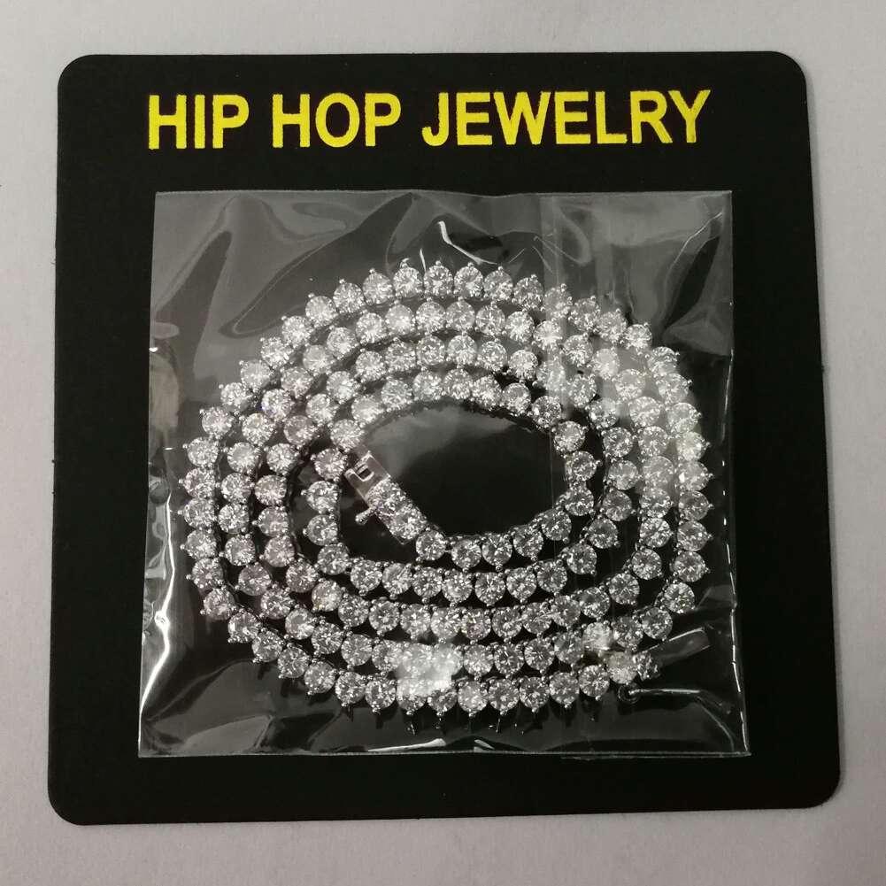Fashion-p collane a catena diamanti tennis per catene cubani uomini donne di lusso braccialetto oro 18k placcato 18inches 3mm regalo gioielli in argento oro