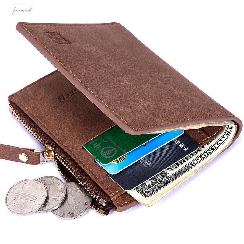 Мужчины короткие мини-бифДонные монеты кошелек повседневный твердый кошелек кошельки мужчины с карманными кошельками тонкие мужские мягкие модные кошельки eidxx