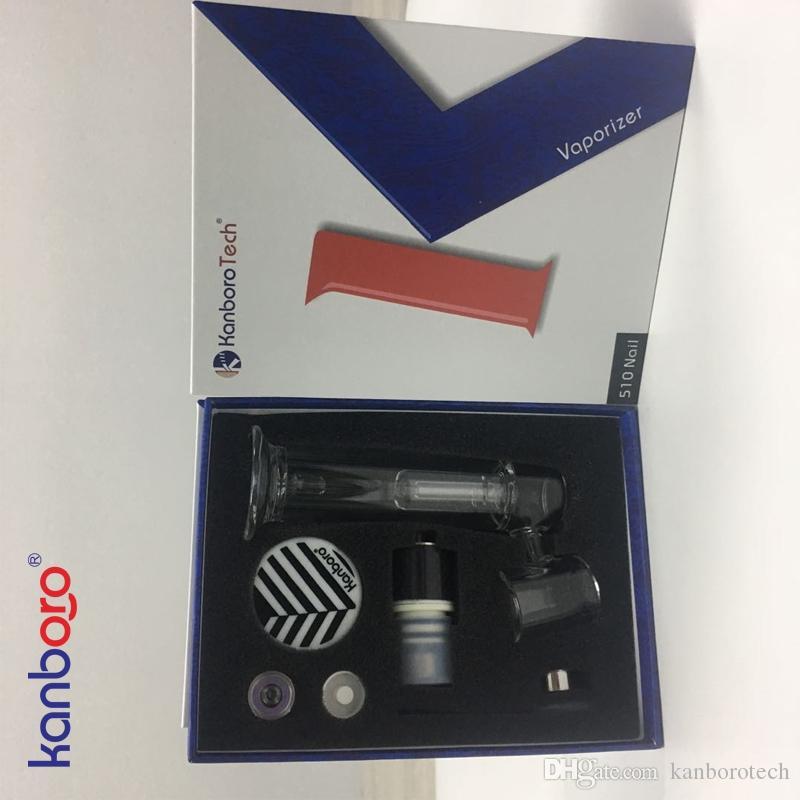 Double bobine réservoir blister emballage clearomizer portable conception kanborotech 510 kit ongles avec qualité hign personnalisé OEM Ehookah eshisha ..