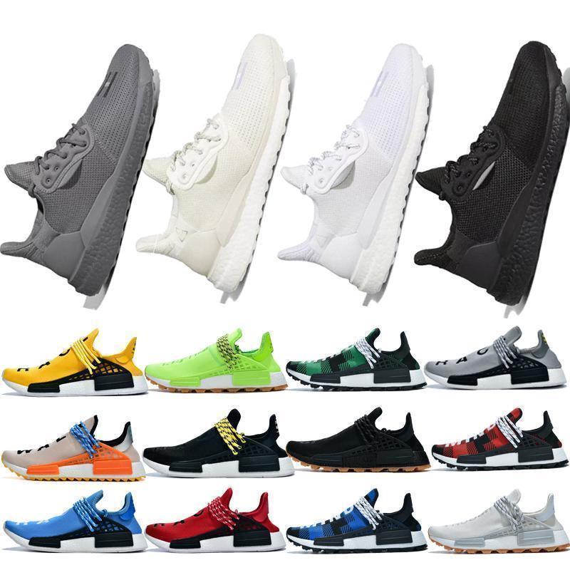 2019 NMD razza umana Mens runningg scarpe Pharrell Williams campione giallo Core Nero di Sport Del Progettista Scarpe Uomo Donna Sneakers Taglia 36-45a28f#