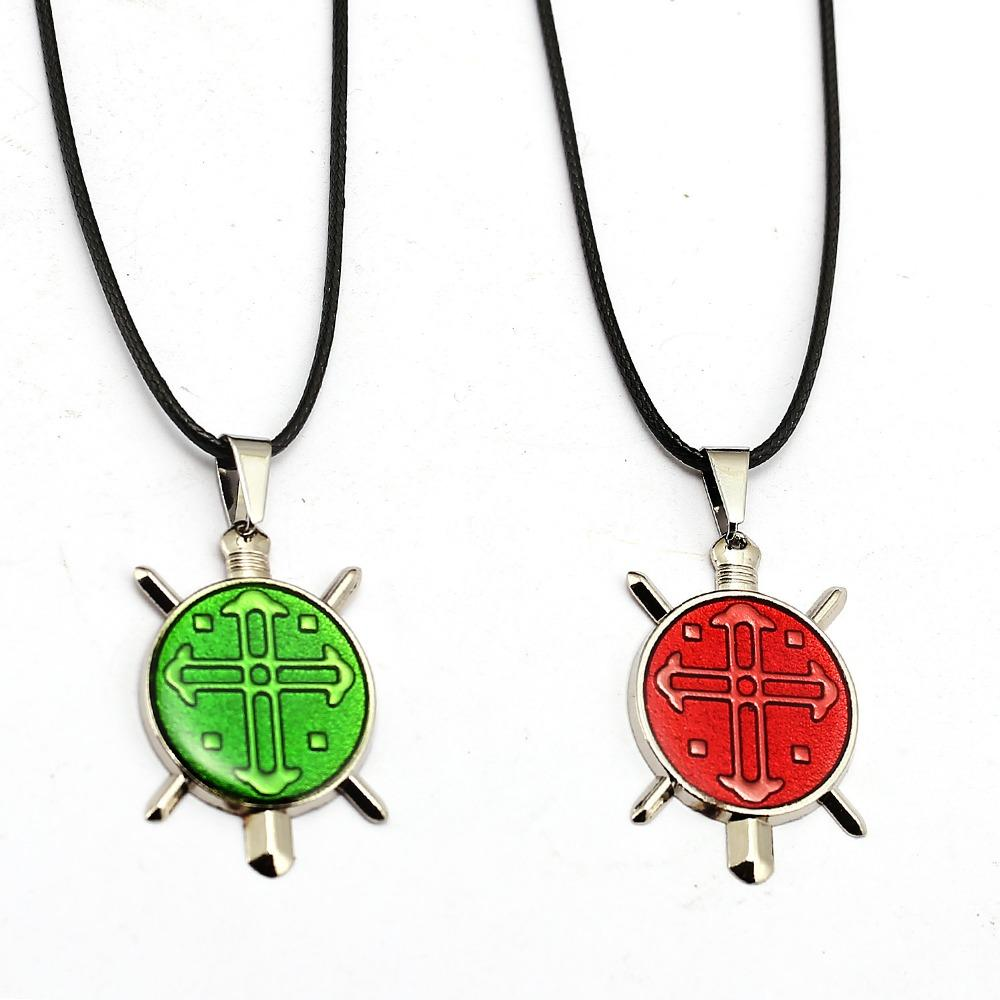 Hunter X Hunter Necklace GON FREECSS Cross Metal Pendant Rope Chain Necklaces Women Men Charm Gifts Japanese Anime Jewelry