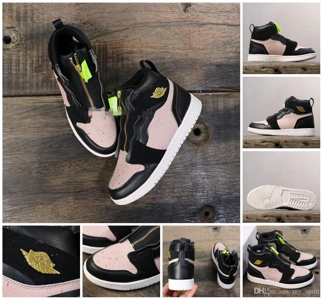 1s AQ3742 001 Zapatillas de baloncesto HIGH ZIP SILT RED I zapatillas botas hombres mujeres botas zapatillas de deporte de alta calidad zapatillas de deporte gimnasio zapatillas de deporte