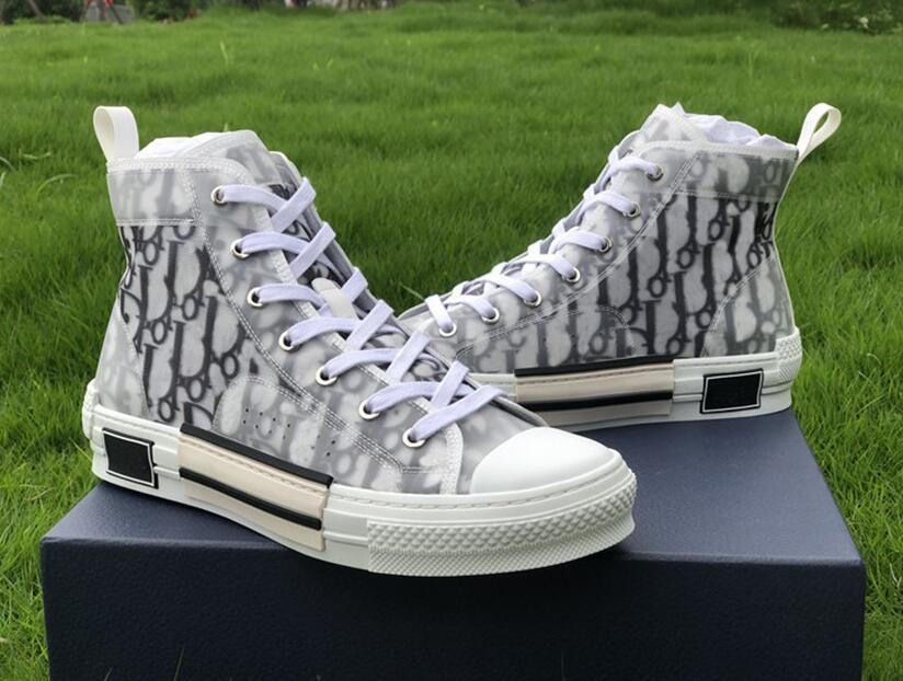 VENDITA CALDA Oblique tessuti tecnologia alto aiuto dei pattini casuali B23 High Top bassa per aiutare le scarpe da tennis delle donne degli uomini di modo casuale Shoes9