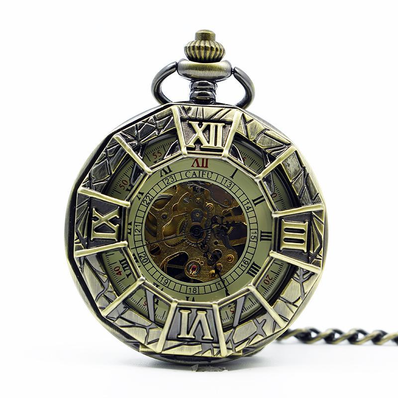 새로운 빈티지 기계식 포켓 시계 골동품 거미 Steampunk 목걸이 Fob 체인 남성 여성 Pendent 시계 PJX1265에 대한