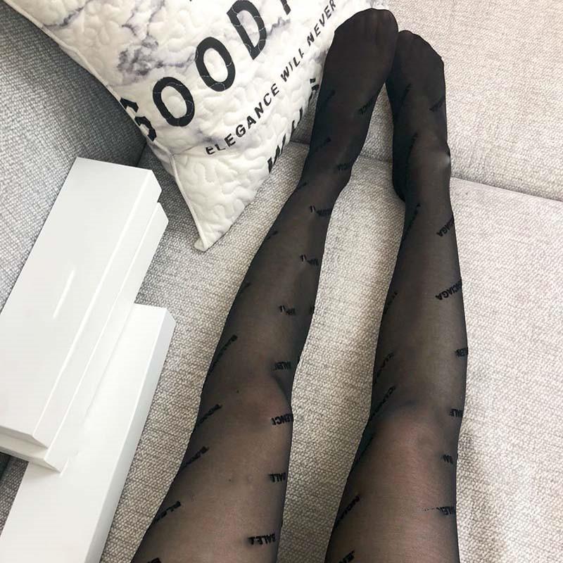 الأزياء يتدفقون رسالة الصغيرة جوارب النساء مثير الأسود انظر من خلال جوارب بنات التعشيب حزب كل مباراة صافي جوارب