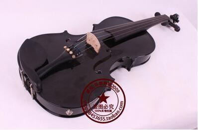 하이 엔드 상자 형 전자 바이올린 전기 음향 바이올린 블랙 4/4 전기 상자 듀얼 사용 1 #