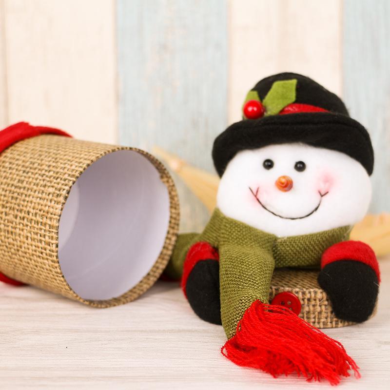 20 * 9cm 6A0532: Yaklaşık 1 adet Keten Karton Yaratıcı Noel Dekorasyon Noel Hediyesi Kutusu Geyik Keten Şeker Kutusu Boyut