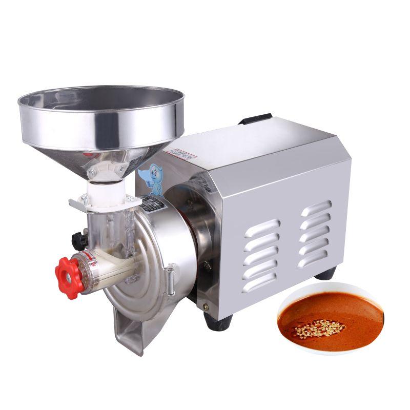BEIJAMEI fábrica máquina amoladora de mantequilla de maní comercial de acero inoxidable 2200W pasta de sésamo molienda de decisiones para alimentos