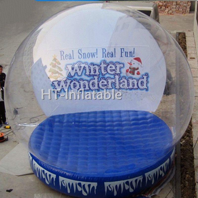 Freies Verschiffen 4.5m Weihnachten Halloween Außendekoration riesiger aufblasbarer Schneeball, Neueste Riesenschneekugel, Riesenschneekugel für Foto