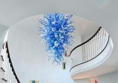 Lampade a flower di lusso contemporanea Lampade a soffitto Art Illuminazione A Mano Blown Murano Vetro Stile Chandelier Lampadario LED Pendente