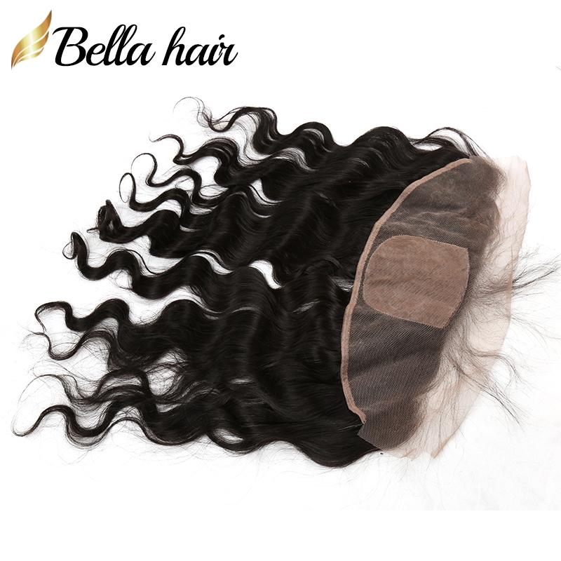 Lace Frontals with Silk Base Ear to Ear Closures 100% Virgin Human Hair Weaves Closure Body Wave Natural Color Bellahair