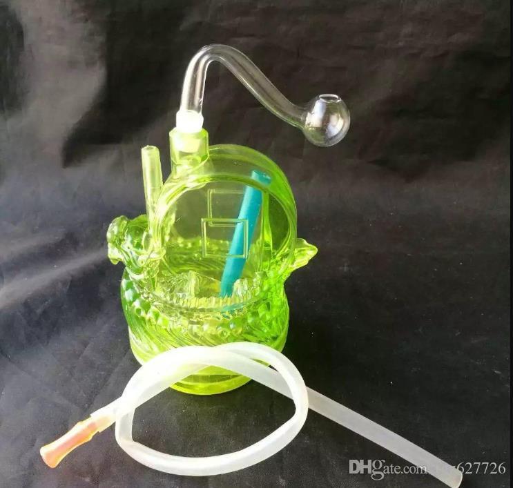Anatra Narghilè, Tubi all'ingrosso Bong di vetro del bruciatore a nafta di vetro Tubi di acqua di vetro tubo di olio rig fumatori spedizione gratuita