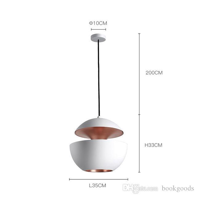 Freeshipping скандинавского ресторана лампа Современных минималистские офисных люстр Алюминиевая Одинарная подвесной светильник абажур столовой люстры
