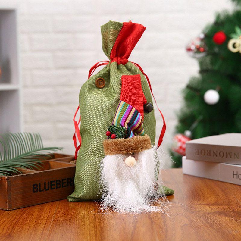 Рождественский снеговик Санта подарок сумка Drawstring конфеты сумка Christmas Party Decoration Drawstring Bag Bundle Карман