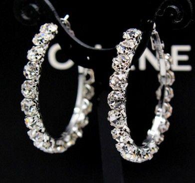 Благородная низкая цена качества высокого оптовые 10pairs / много кристалла алмаза женских серьги до рынка бесплатной доставки (3.5b