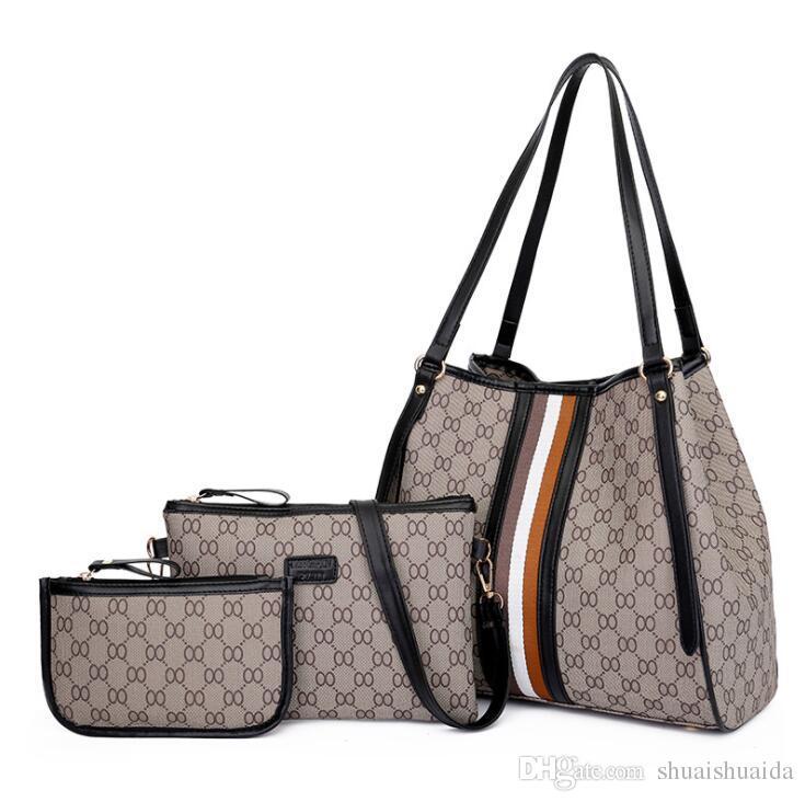 2019 bolsos de hombro casuales Bolsos Bags Big Bags PU Bolso de mano Cuerpo Moda Cross Tote Calidad Bolsa de señora Bolsas grandes R1018 Rxdjt