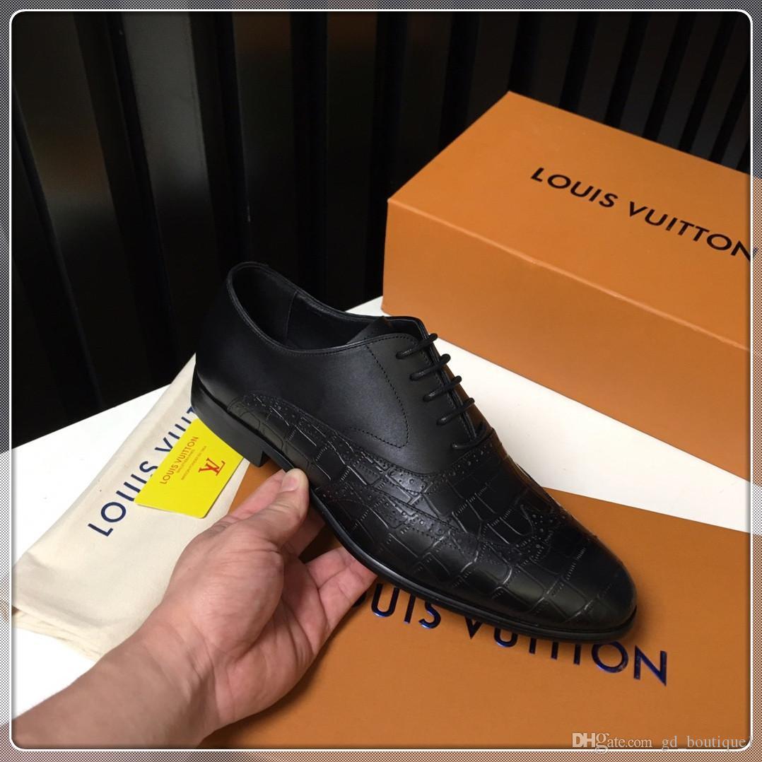 louis vuitton LV Top Luxury Мужская обувь моды корабль падения Новое прибытие высокого Лучшие Мужчины Узелок Zapatos де Hombre Мужчины Повседневная обувь