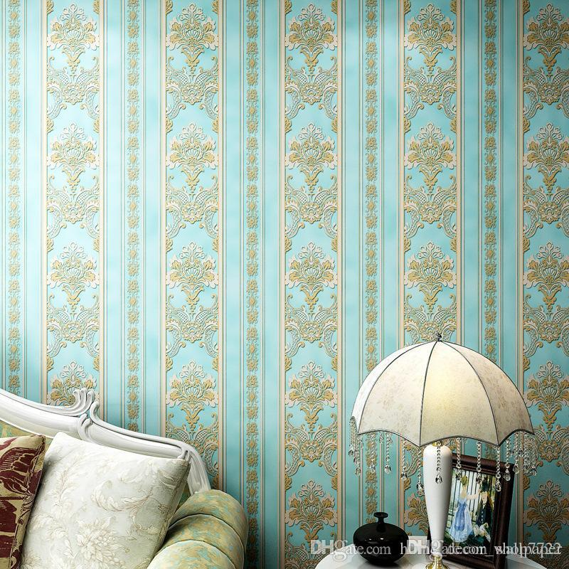 Modern Damask 3D Wallpapers Rolls Striped Florwers Bedroom Wall Coverings for Living Room Luxury Wall Papers Home Decor