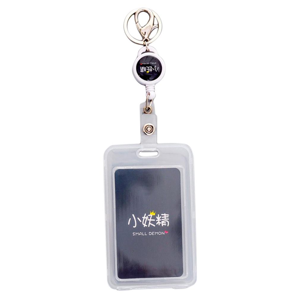 New ID Badge Holder Lanyard Credit Card Case Plastic Card Cover Card Protector