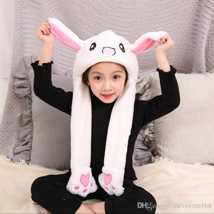 زخرفة الزفاف، آذان أرنب لطيف قبعة، آذان الضغط، قبعة تتحرك، غطاء وسادة هوائية