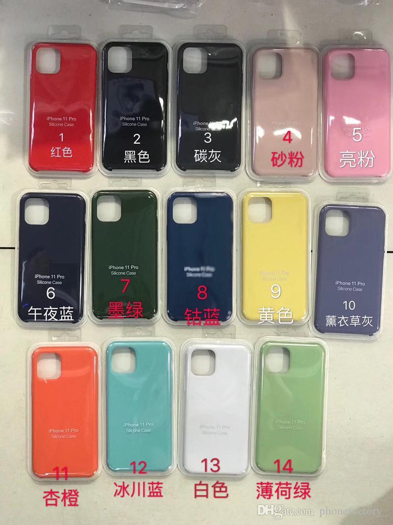 Tienen el logotipo original Líquido casos de silicona para el iPhone 11 MAX PRO XS MAX XR 8 7 6 6S Plus con paquete al por menor Nueva