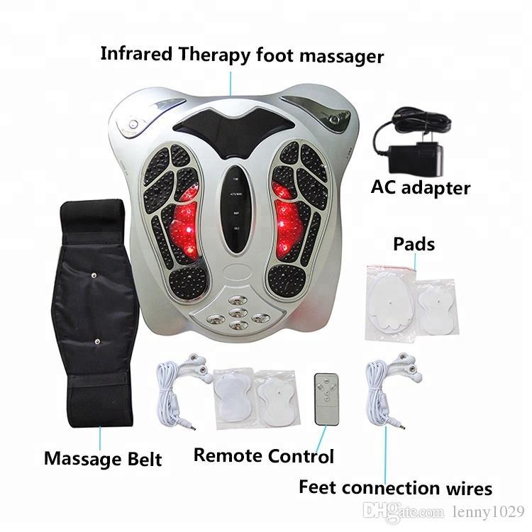 Лучший подарок для пожилых людей Инфракрасных нагревательного устройства циркуляции крови вибратор электронного импульс массажер для ног