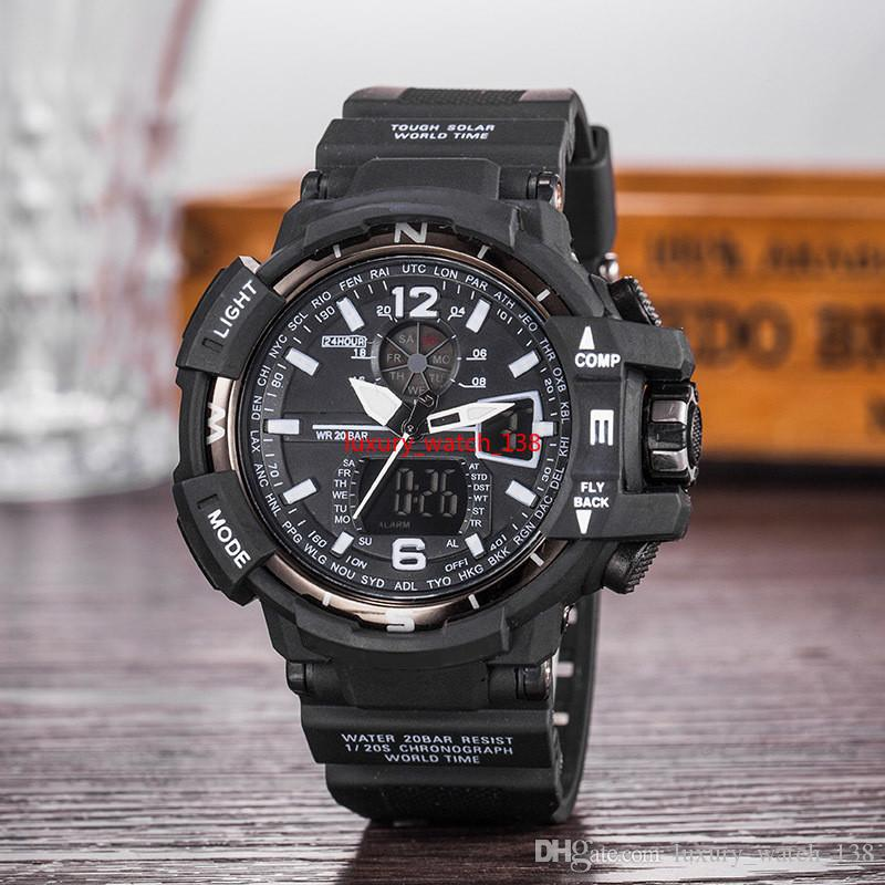 GA1100+G box relogio men's sports watches, LED chronograph wristwatch, military watch, digital watch, good gift for men & boy, dropship