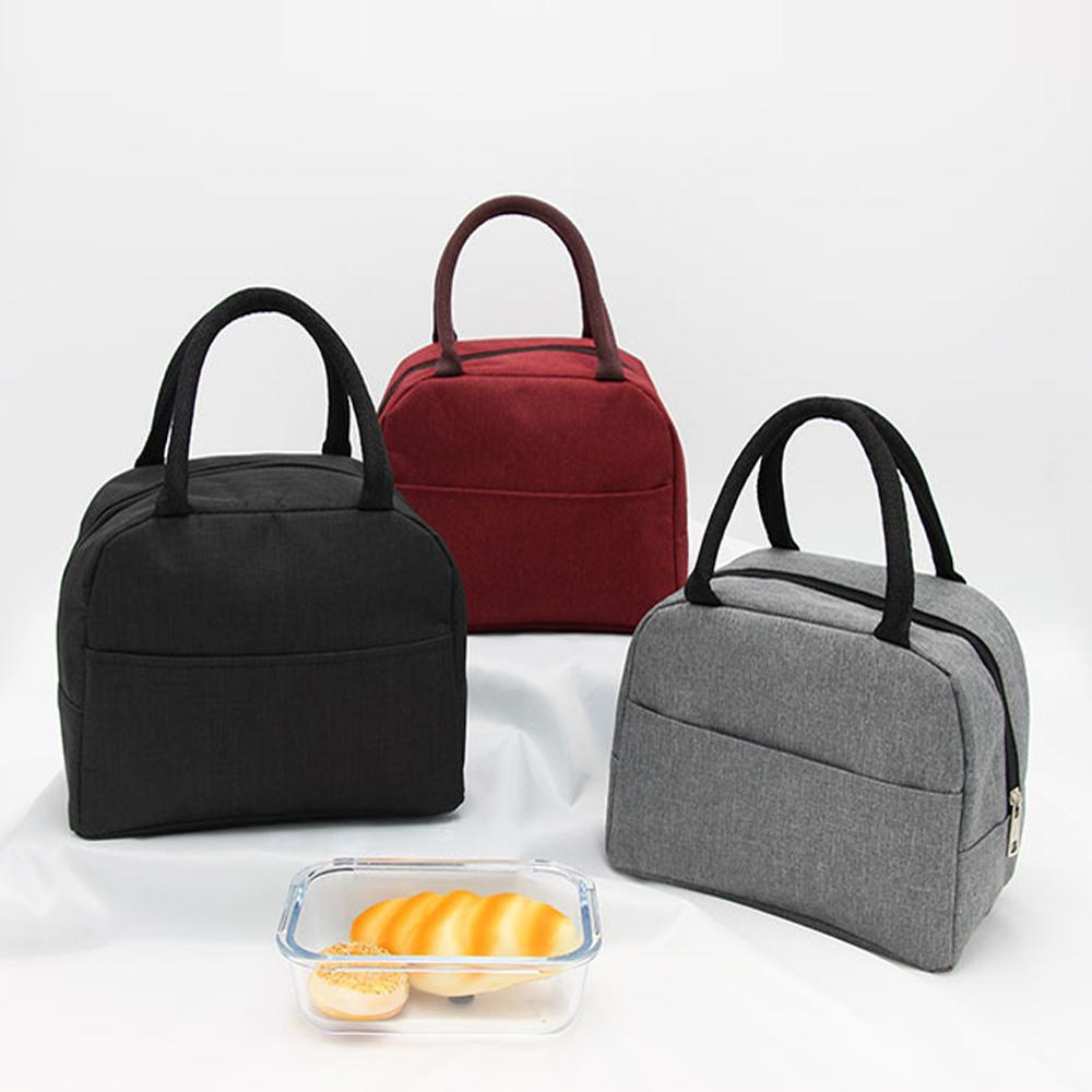 Thermal Insulation Bento Bag Package Portable Lunch Picnic Bag Thickening Thermal Breast Cooler Bags Food Carrier Storage Box 5 Colors