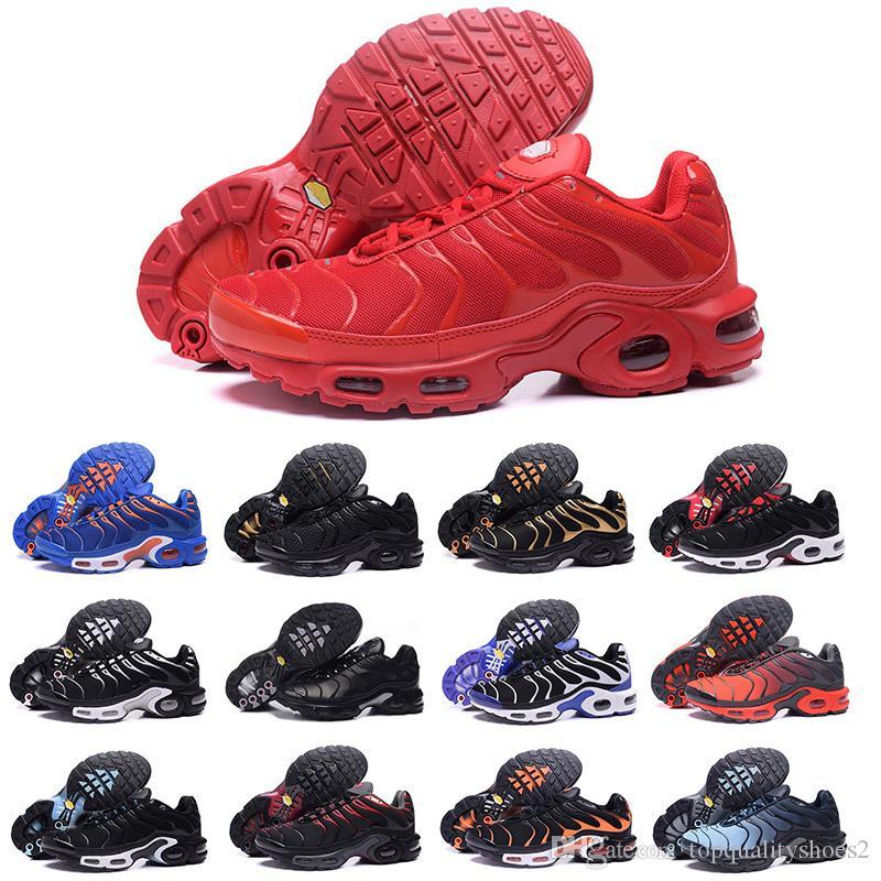Nike air 2018 airmax Vapormax TN Plus  Neuheiten chaussure TN Plus Laufschuhe 2018 tn Herren Outdoor Laufschuhe Schwarz Weiß Trainer Wandern Sport Athletic Sneakers EUR40-45