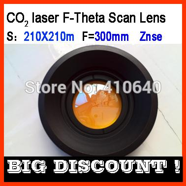 F-Theta 210X210 scan len of Znze for CO2 laser machine wave length 10.6 micron focus length F300 screw 85X1 MORE SIZE AVAILABLE