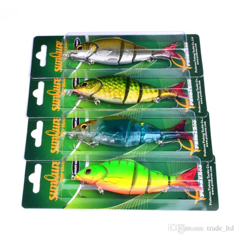 Chaud! 4 Couleur 12.8cm 22g multi Articulé en plastique basse Leurres Swimbait évier crochets Tackle leurres de pêche de haute qualité